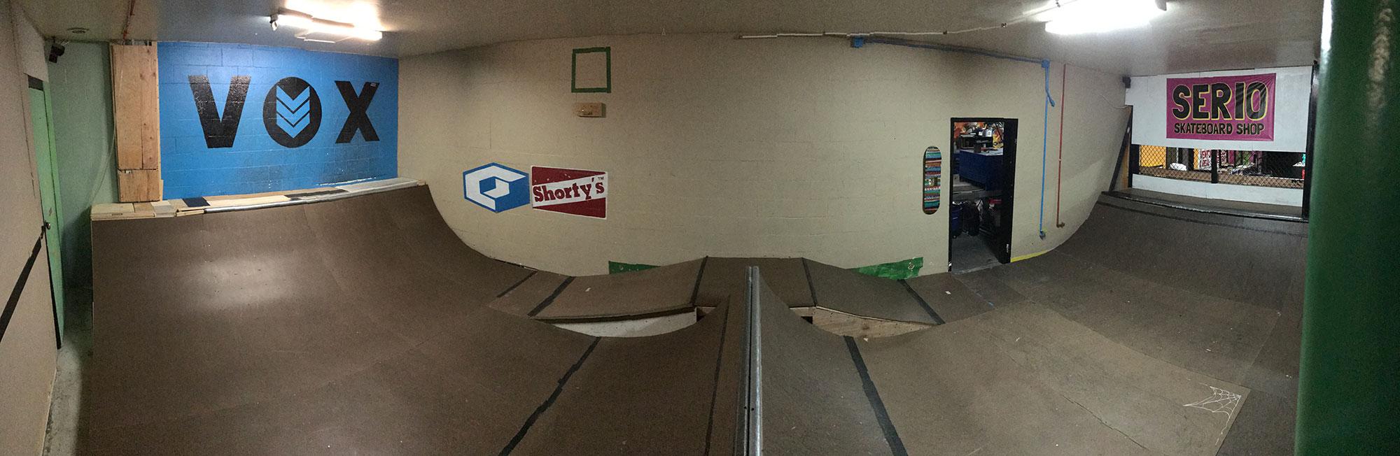 Skate our indoor miniramp